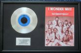 "- SHOWADDYWADDY - 7"" Platinum Disc & Song Sheet - I WONDER WHY"